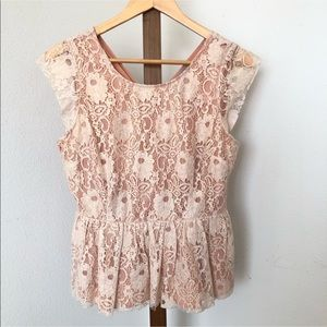 🌺Anthropologie Sleeveless Lace Top by Maeve